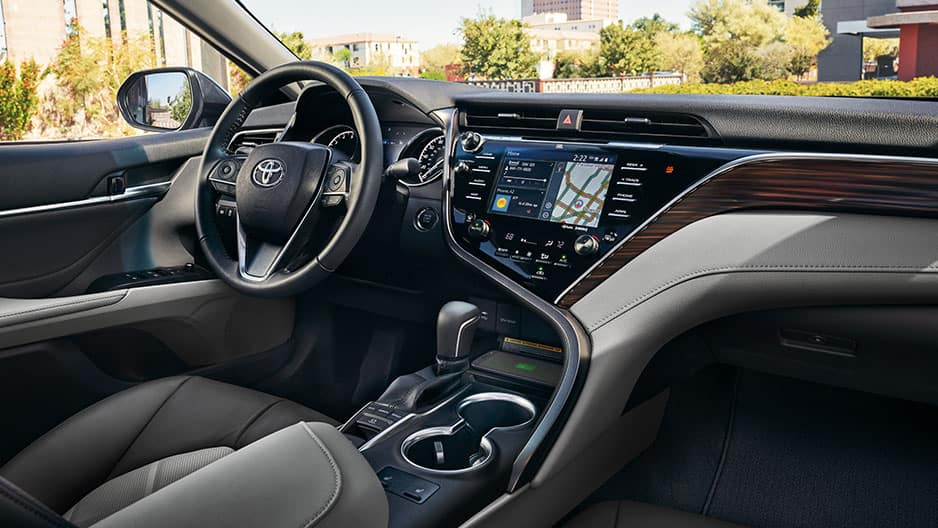 Interior Features of the New Toyota Camry at Garber in Fox Lake, IL