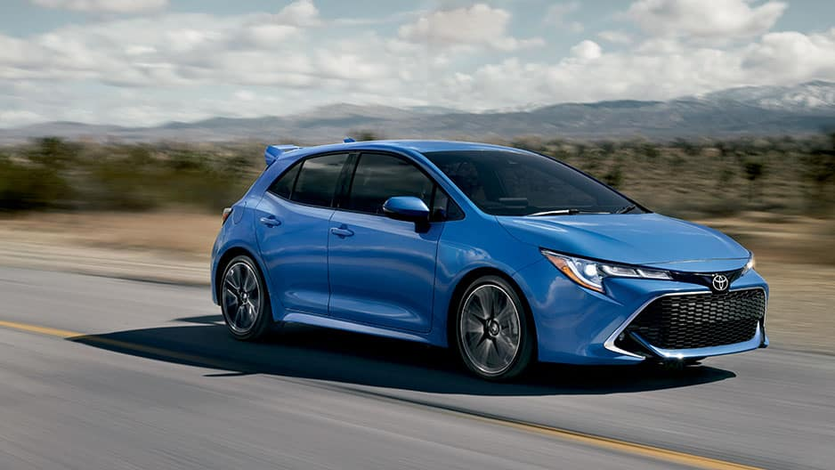 Exterior Features of the New Toyota Corolla Hatchback at Garber in Fox Lake, IL