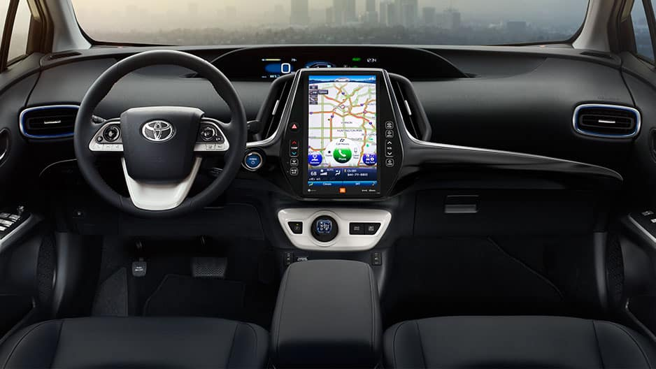 Interior Features of the New Toyota Prius at Garber in Fox Lake, IL