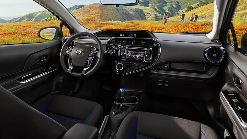 Interior Features of the New Toyota Prius c at Garber in Fox Lake, IL