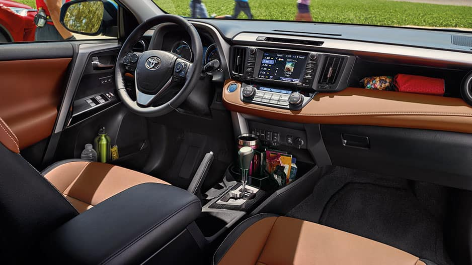 Interior Features of the New Toyota RAV4 Hybrid at Garber in Fox Lake, IL