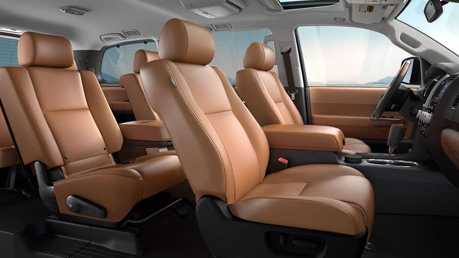 Interior Features of the New Toyota Sequoia at Garber in Fox Lake, IL