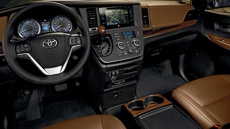 Interior Features of the New Toyota Sienna at Garber in Fox Lake, IL