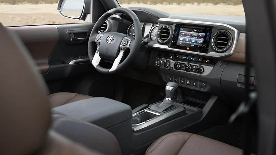 Interior Features of the New Toyota Tacoma at Garber in Fox Lake, IL