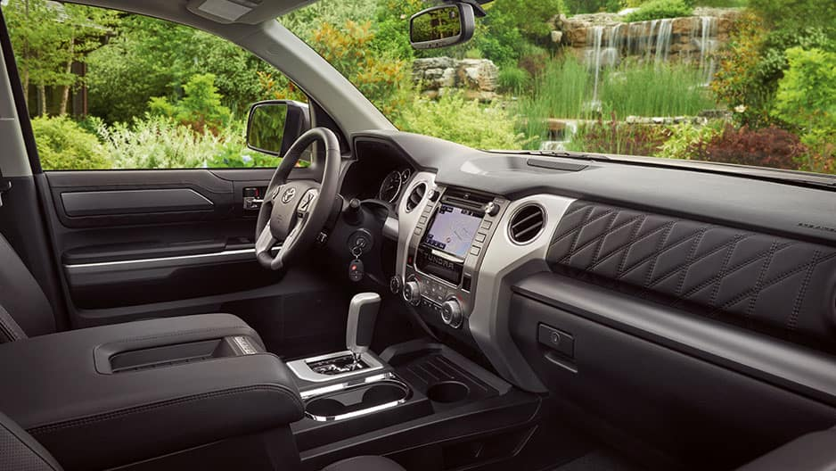 Interior Features of the New Toyota Tundra at Garber in Fox Lake, IL
