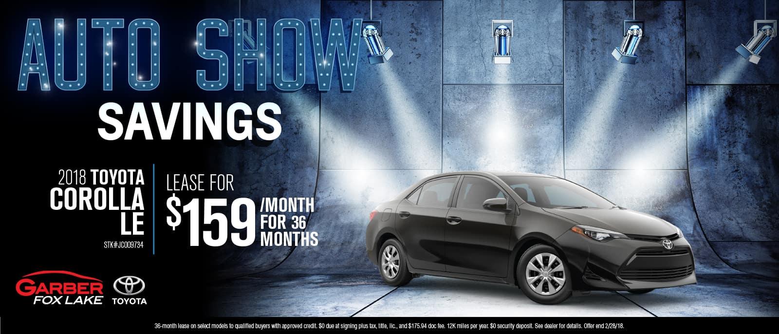 Toyota Corolla Auto Show Savings