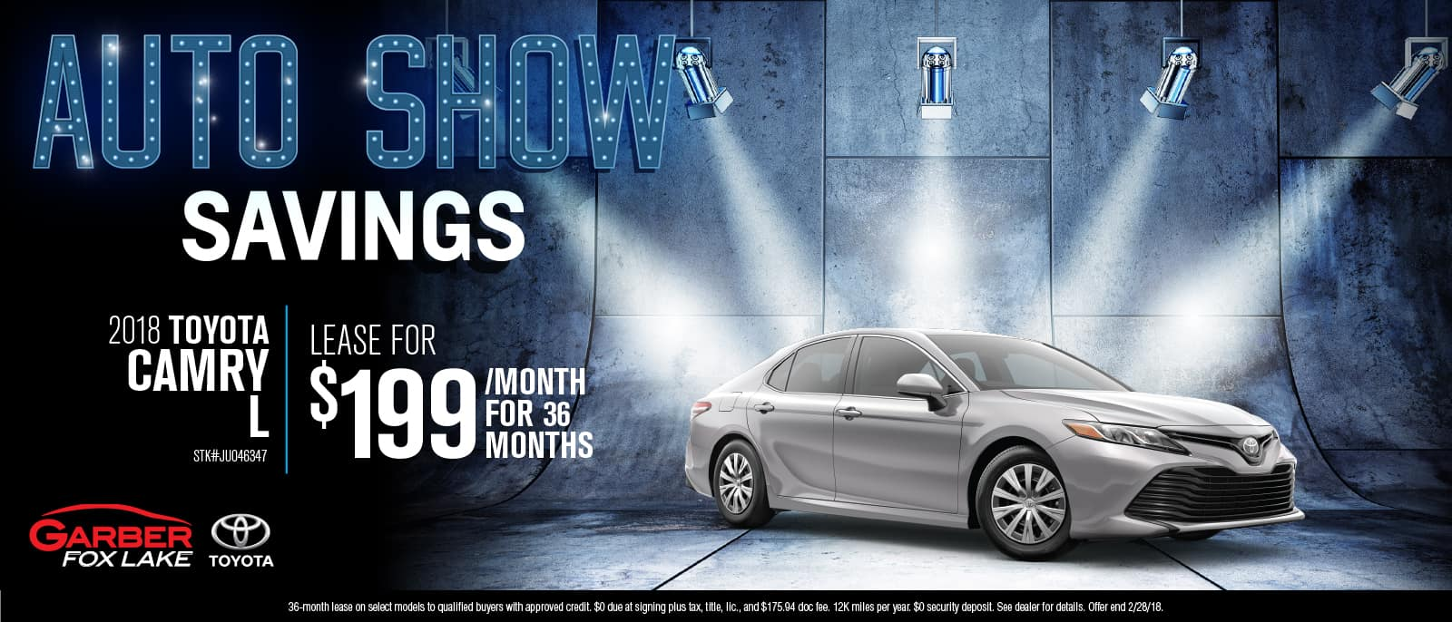 Toyota Camry auto show savings