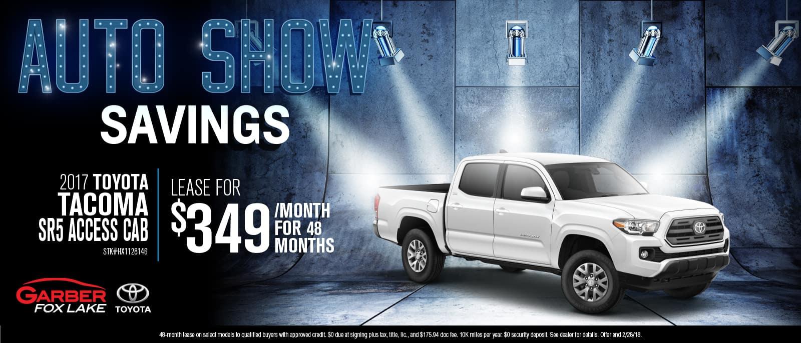 Toyota Tacoma Auto Show Savings