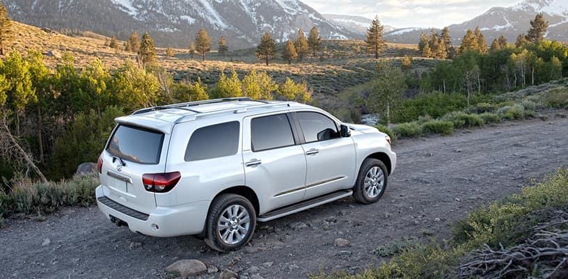Toyota Sequoia On Dirt mountain Road