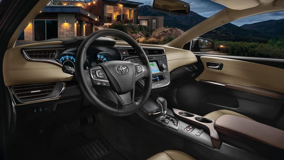 Interior Features of the New Toyota Avalon at Garber in Fox Lake, IL