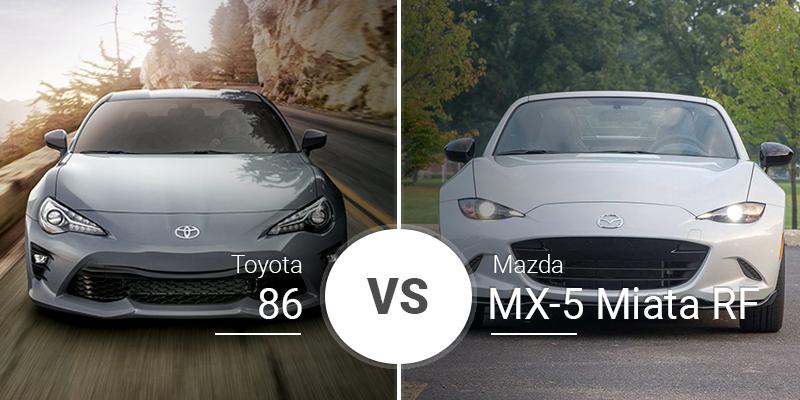 Toyota 86 Vs Mazda MX-5 Miata RF