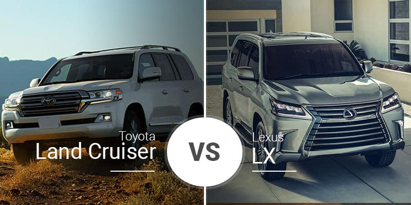 toyota land cruiser vs  lexus lx 570  battle of the big boys