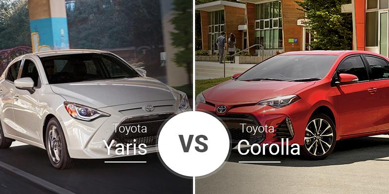 Toyota Yaris Sedan Vs  Toyota Corolla