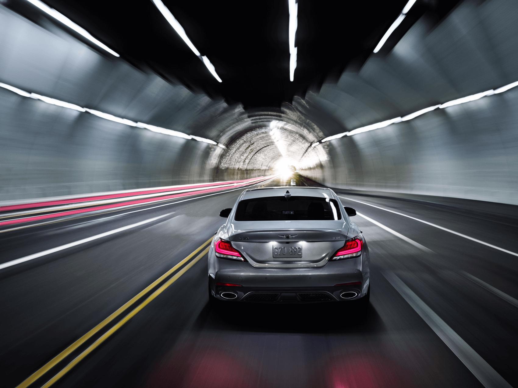 Genesis G70 Silver Tunnel