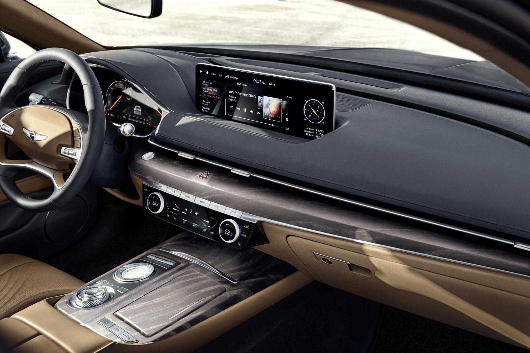 Genesis G80 Interior Tech