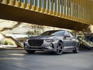 Genesis G70 Silver Front View