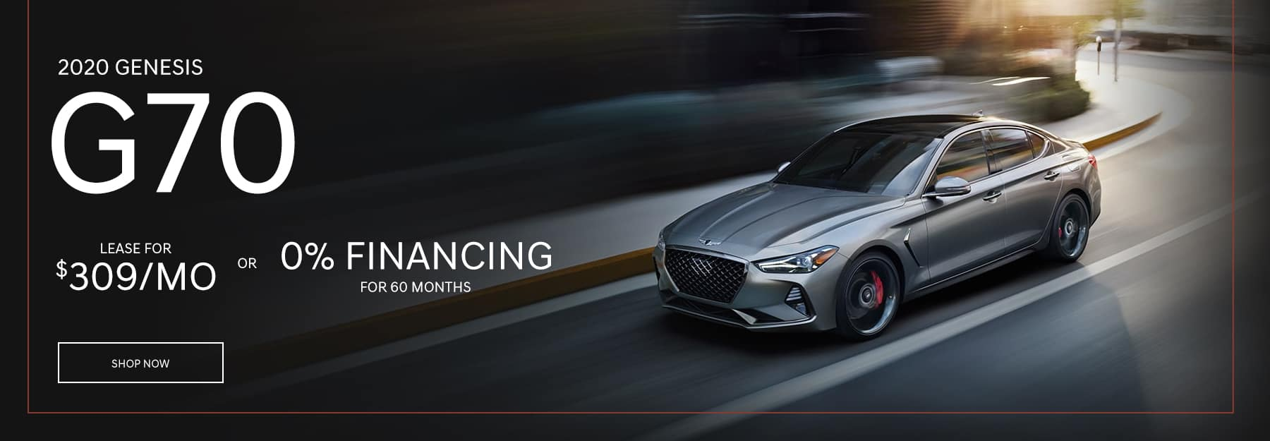 2020 Genesis G70 Lease for $309/mo or 0% Financing