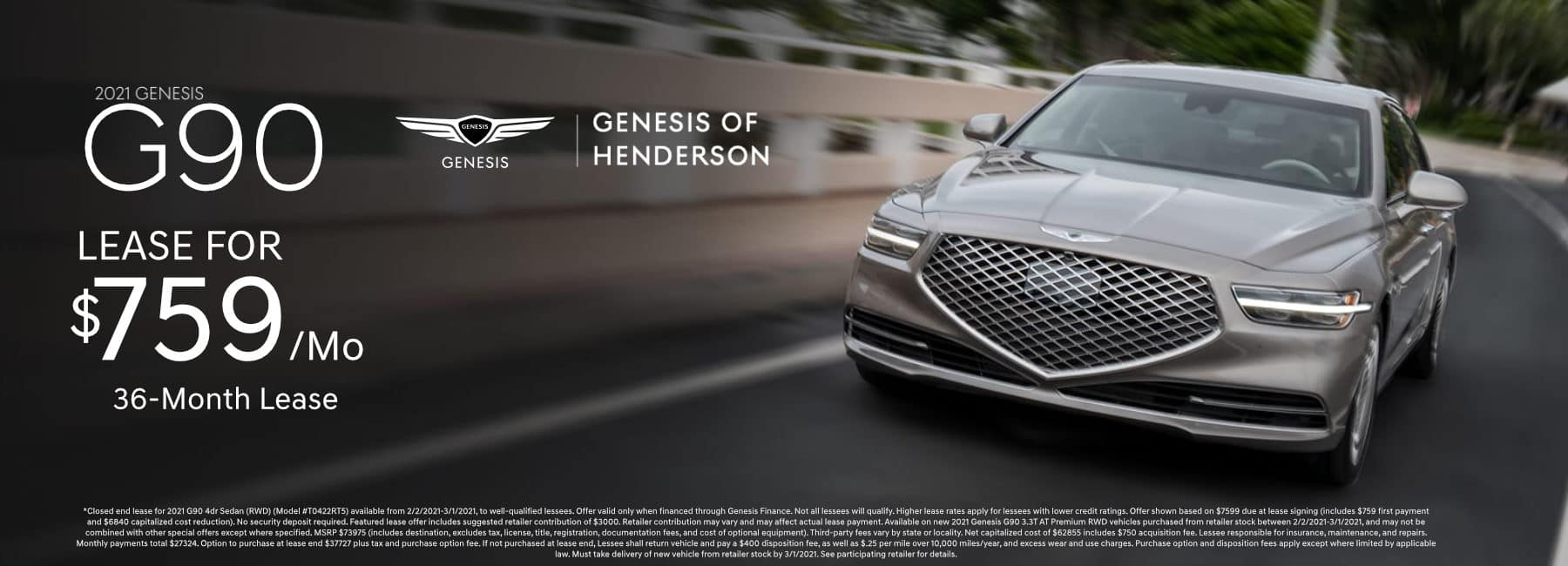 Revised_February_2021 Genesis_G90 Lease Genesis of Henderson