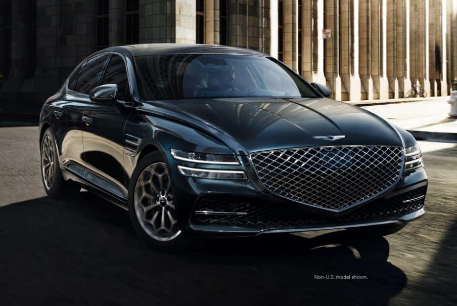 2022 Genesis G80 parked
