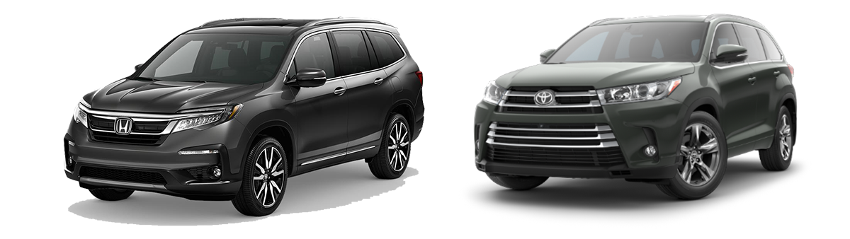 2019 Honda Pilot vs Toyota Highlander comparison