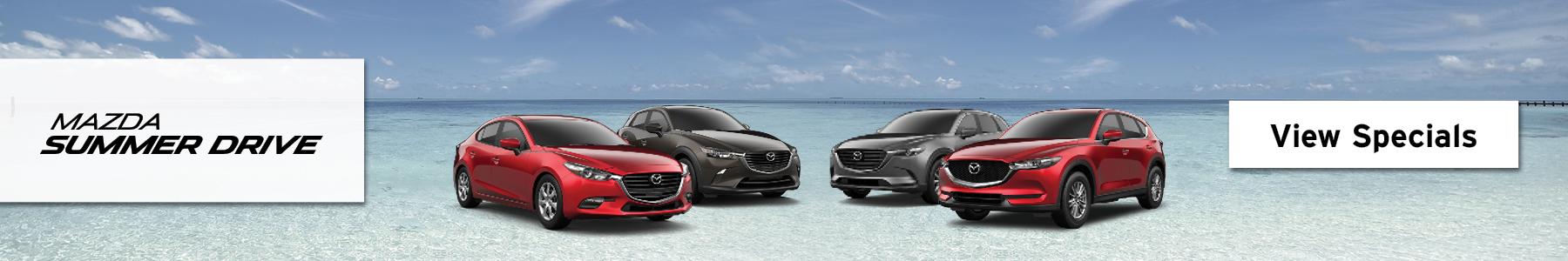 Mazda Summer Drive. View Specials.