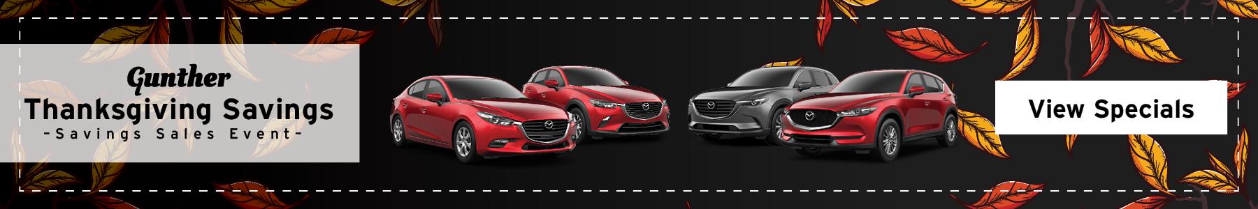 Mazda Fall Event. View Specials.