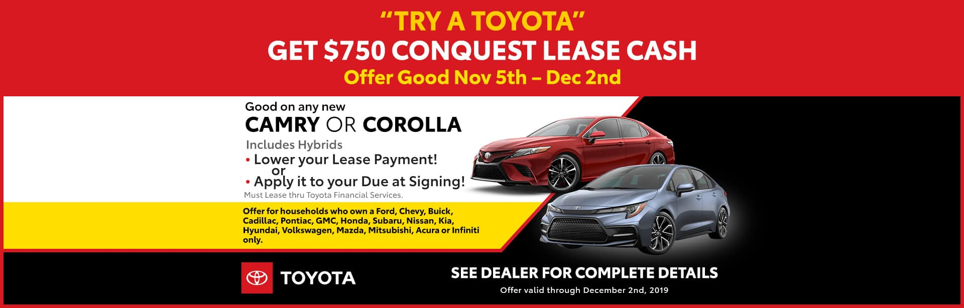 conquest lease banner