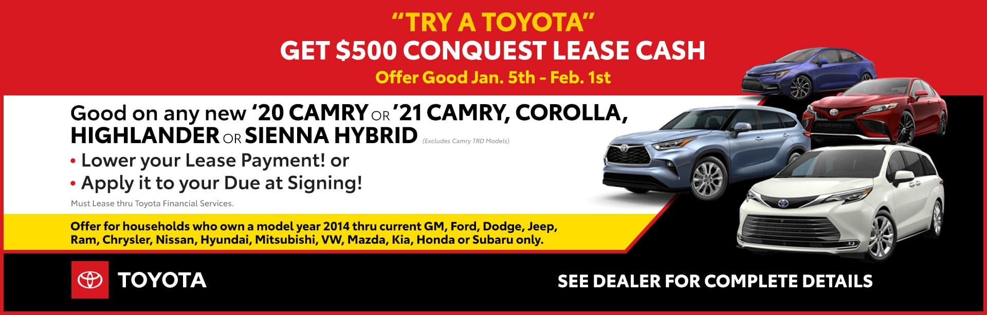 Conquest Lease Cash