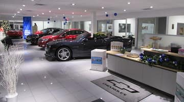 Main showroom of H & K Chevrolet.