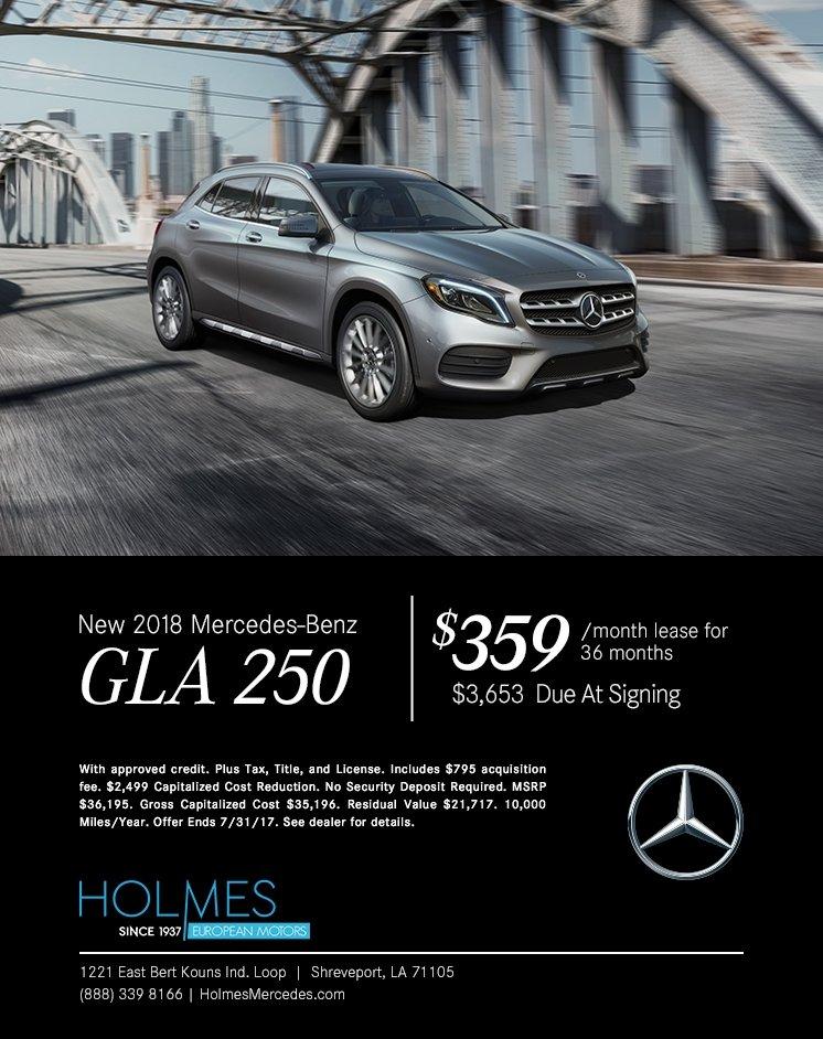 Holmes European Motors, Mercedes-Benz, Mercedes-Benz GLA250, GLA250, New Mercedes Shreveport