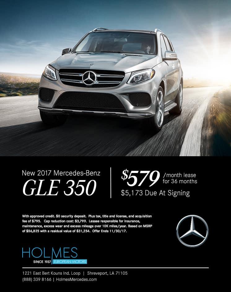 Mercedes-Benz Shreveport, Mercedes Specials, GLE 350 Lease Specials Shreveport