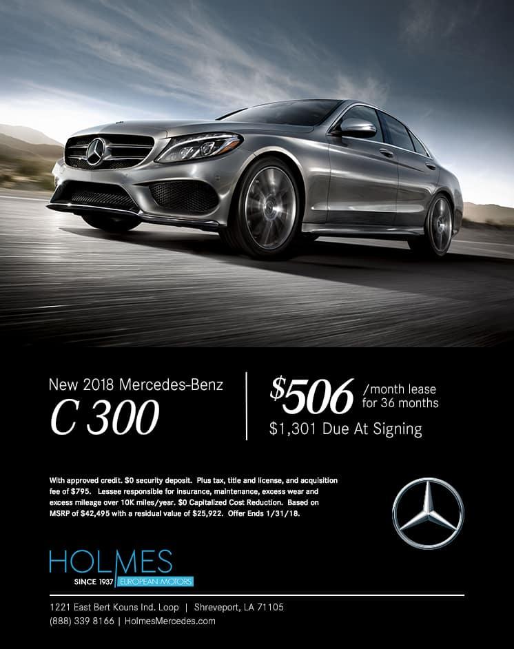Holmes European Motors, C300, Lease Specials