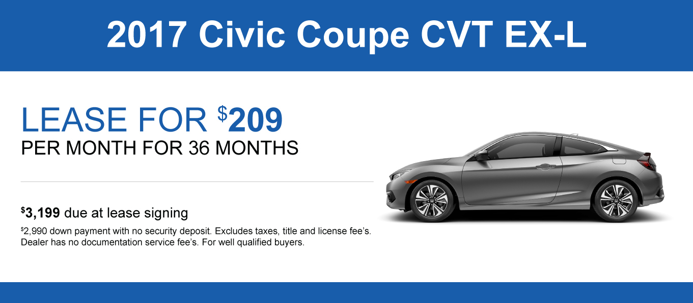 Civic lease specials and offers honda of lincoln for Honda civic lease
