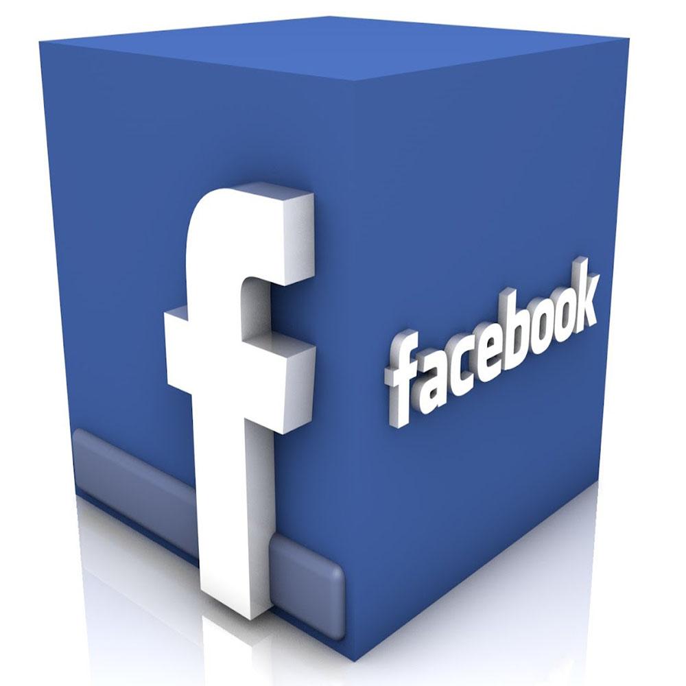 3D Facebook Logo