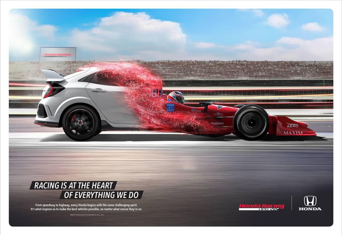 Racing Inspired Brand Campaign Heralds New Honda