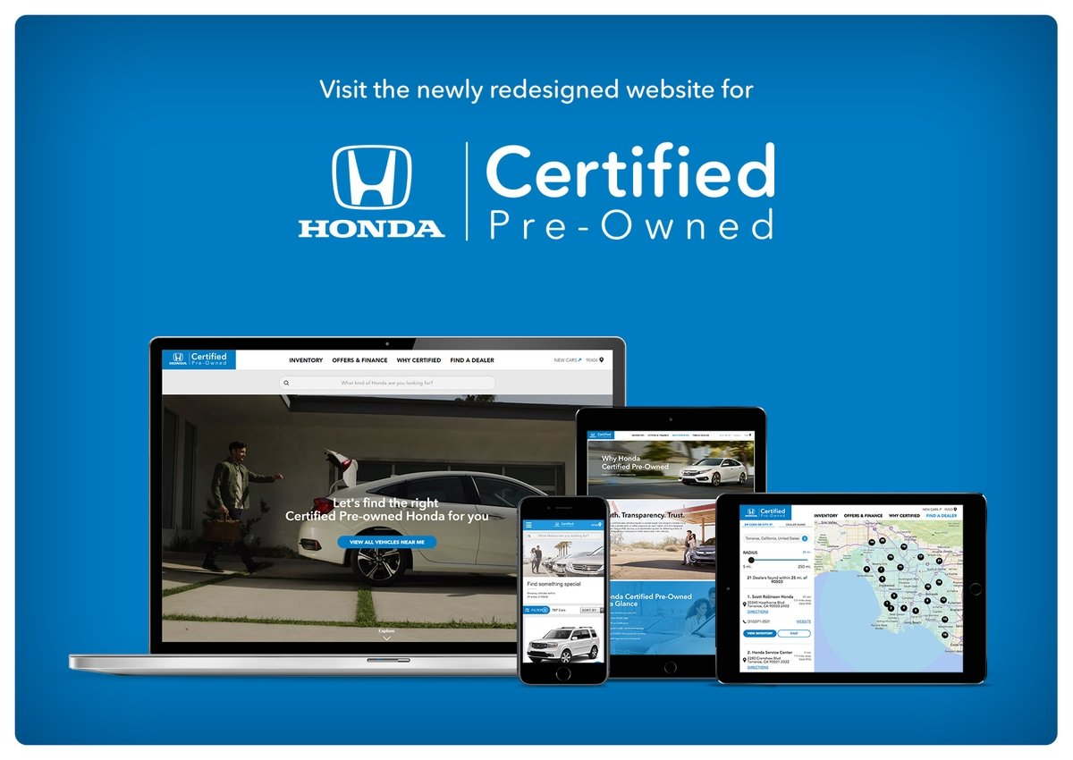 Certified Pre Owned Honda >> Honda Debuts New Website For Certified Pre Owned Vehicles