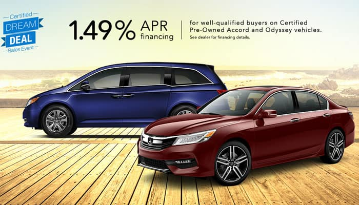 2013-2018 Accord & Odyssey Special Financing