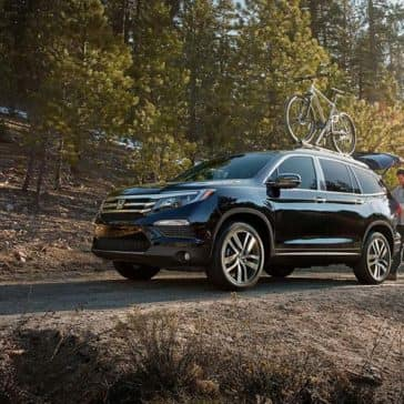 2018 Honda Pilot in the forest