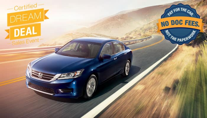 Certified Pre-Owned Accord Special Financing