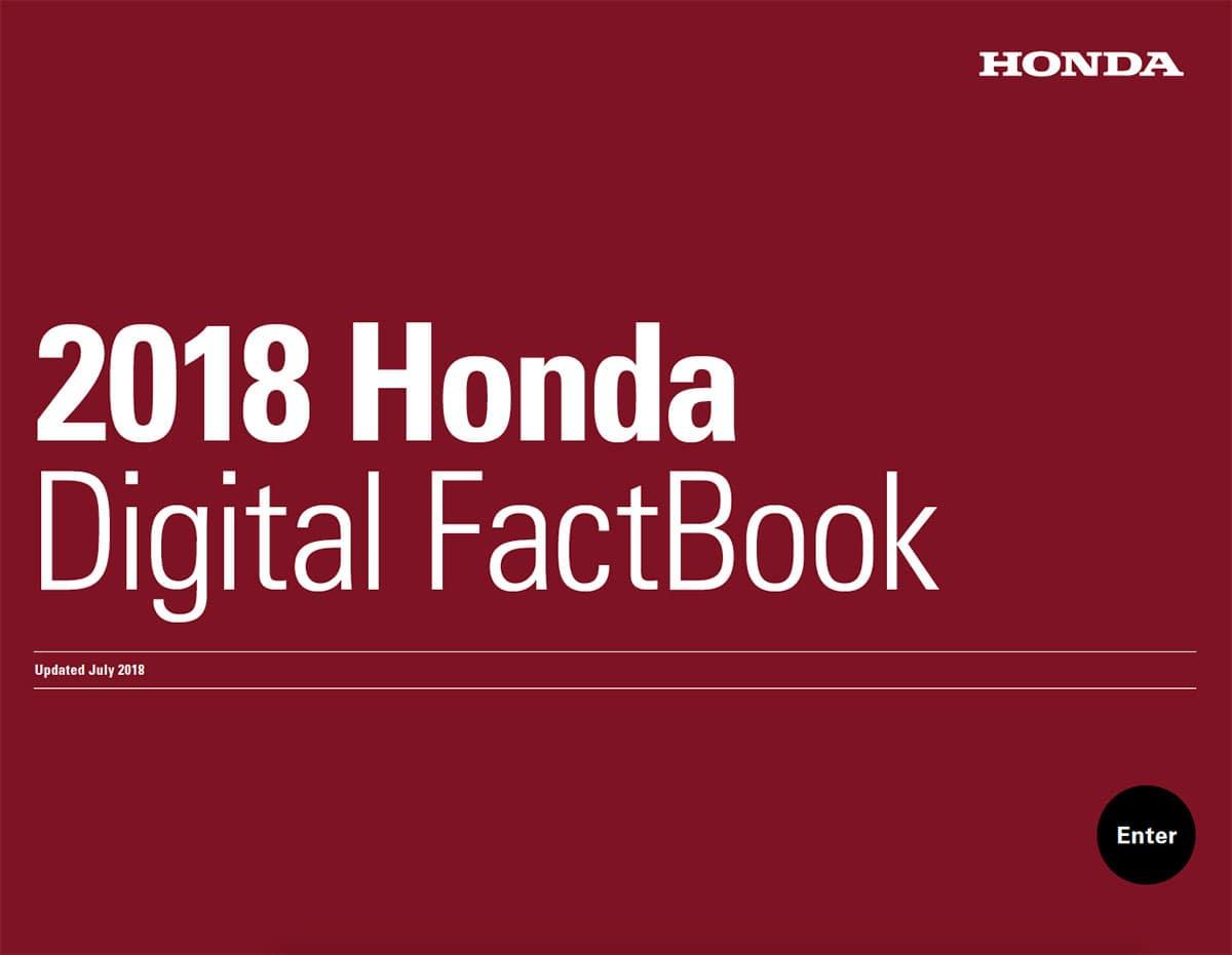 2018 Honda Digital Factbook