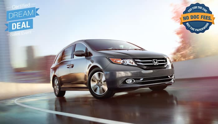 Certified Pre-Owned Odyssey Special Financing