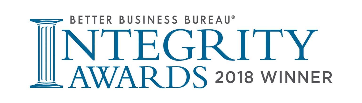 BBB Integrity Award Winner