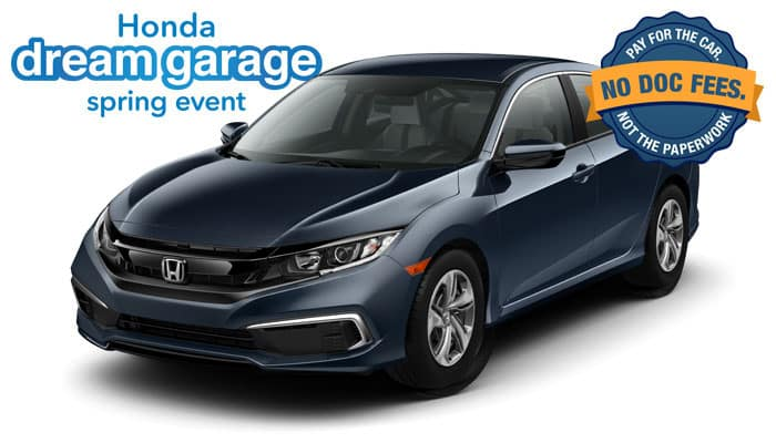2019 Civic LX CVT Sedan $0 down payment