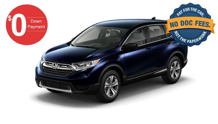2019 CR-V LX AWD $0 down payment