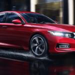 2020 Honda Accord On Wet Street