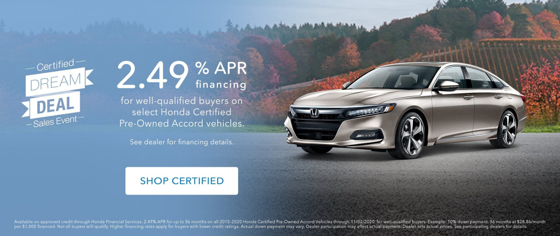 Accord Certified Dream Deal
