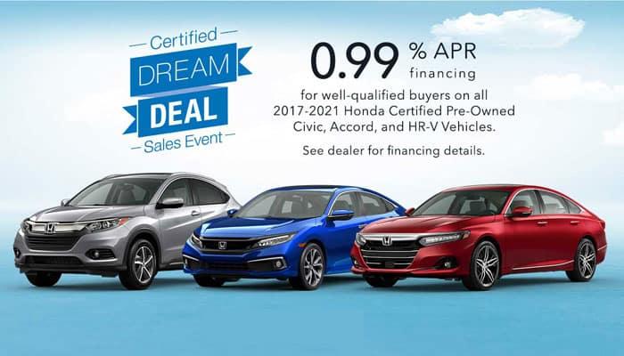 Honda Certified Dream Deal Sales Event Civic