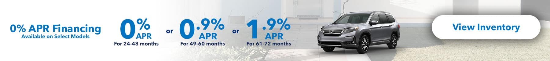 0% APR Financing Available on Select Models
