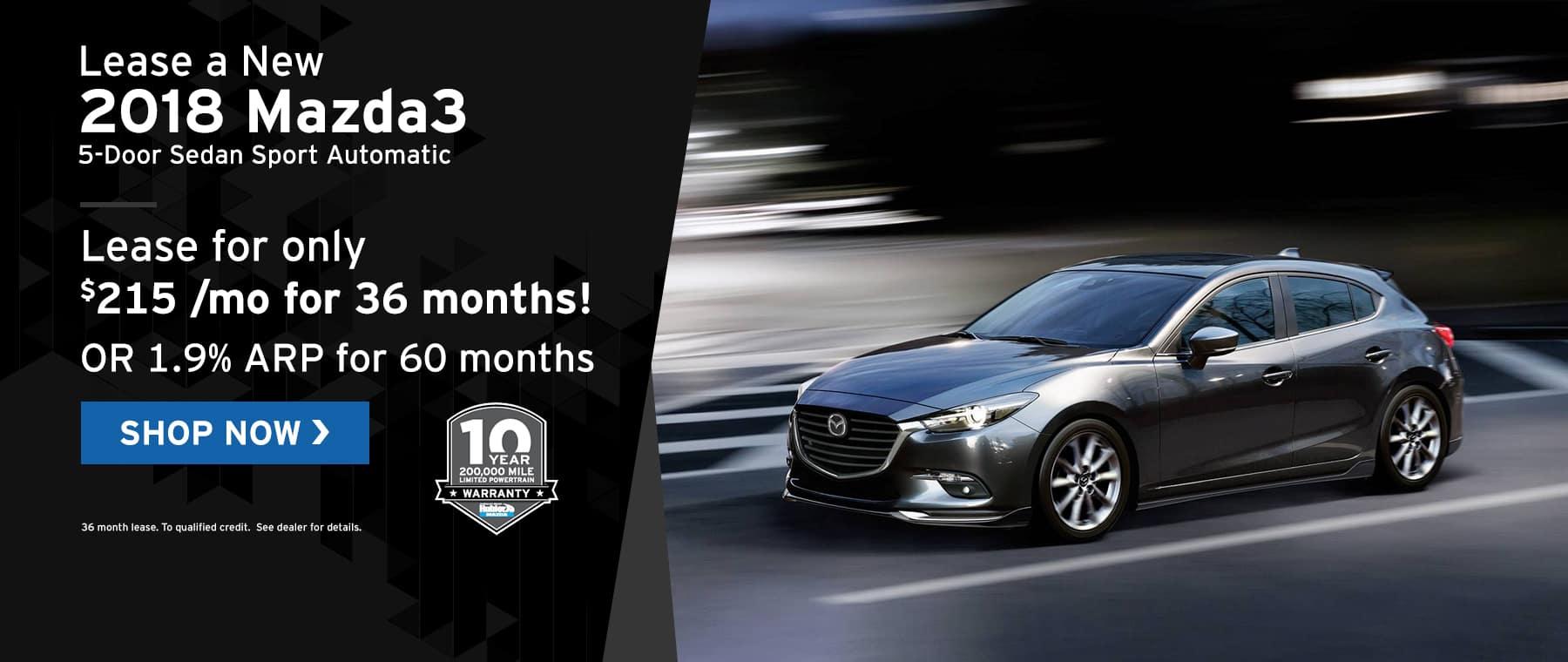 Mazda3 specials at Hubler Mazda