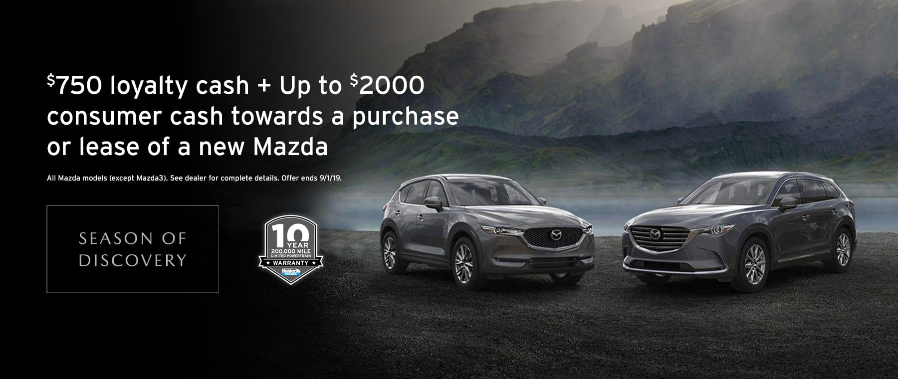 Loyalty AND Cash back at Hubler Mazda